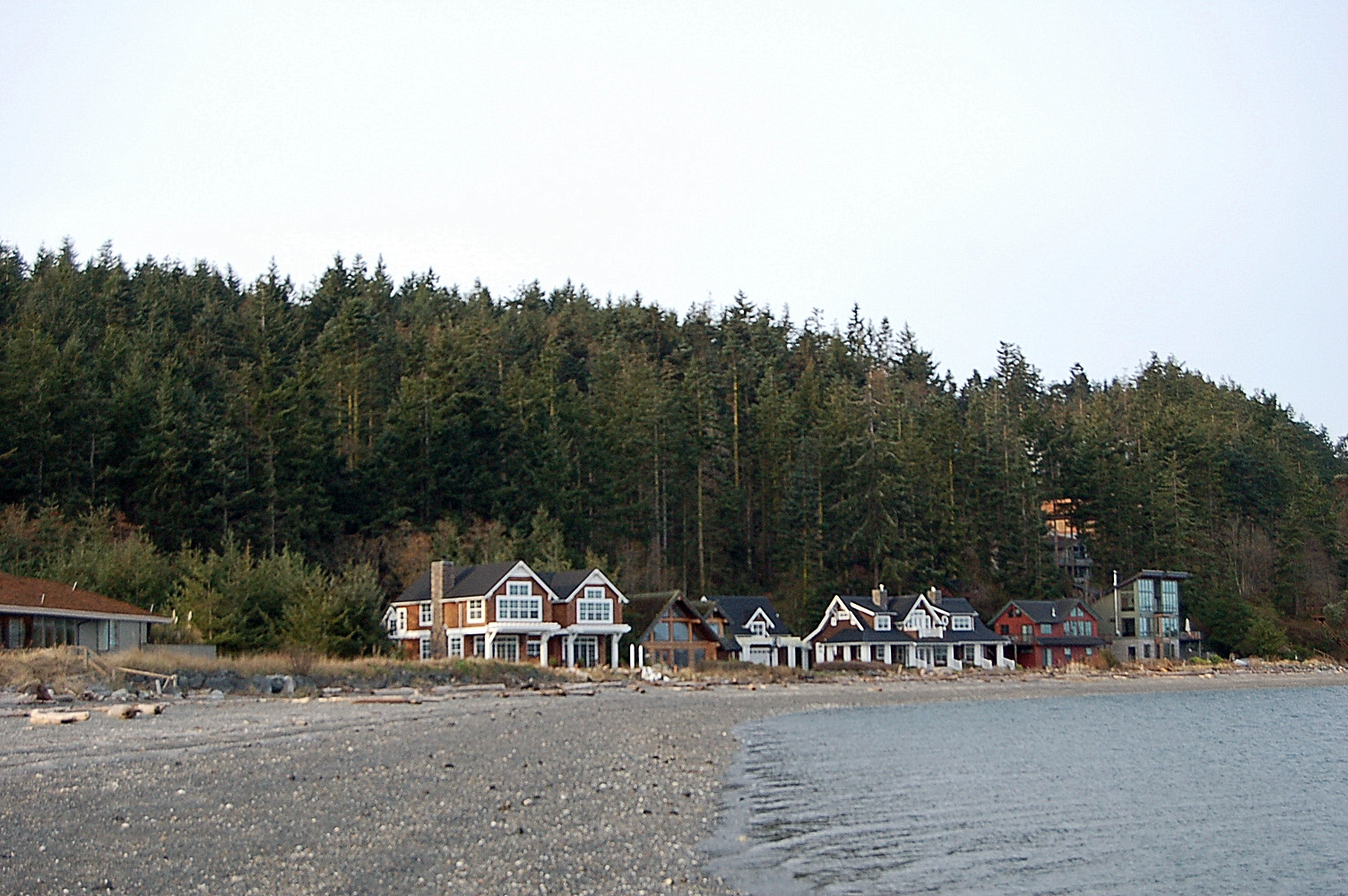 Sculpture Forest as seen from Long Point in Coupeville
