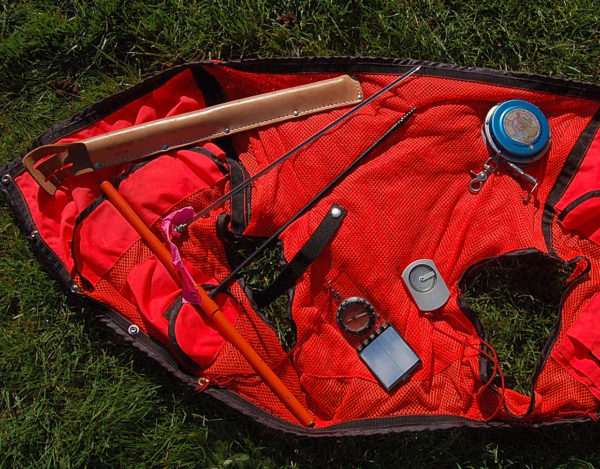 2008-04-30 Forestry tools of Clinometer, Compass, Logger's/diameter tape, Increment borer, Safety vest