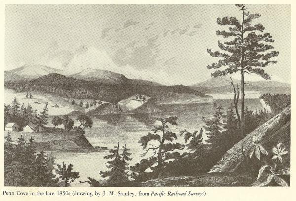 Penn Cove 1850s railroad survey from Richard White book