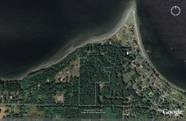Coupeville Parker Road property satellite photo mid view