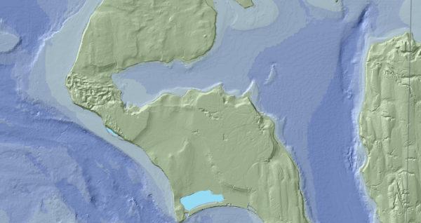 University of Washington Whidbey Island Coupeville topography and Penn Cove bathymetry