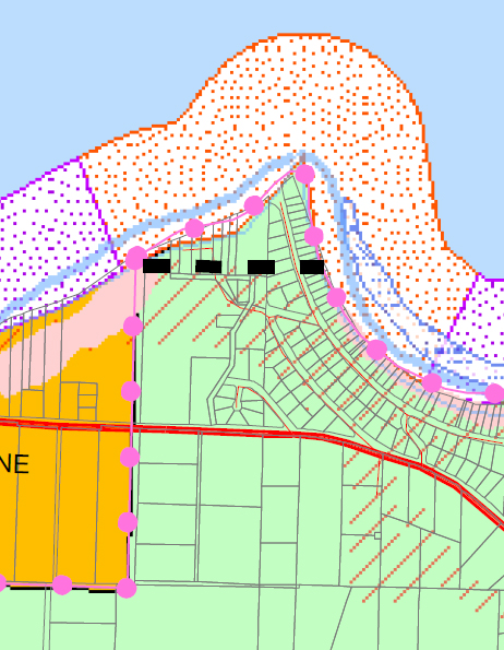 Island County critical areas map for Long Point Coupeville