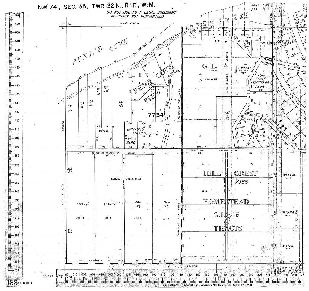Long Point Coupeville parcel map from Island County Assessor