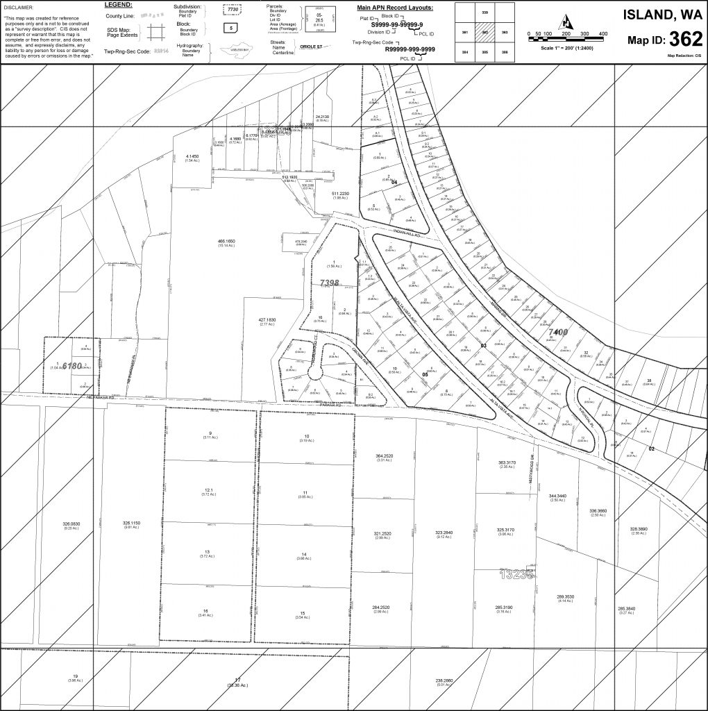 2010 Island County Assessor parcels map of Long Point Coupeville