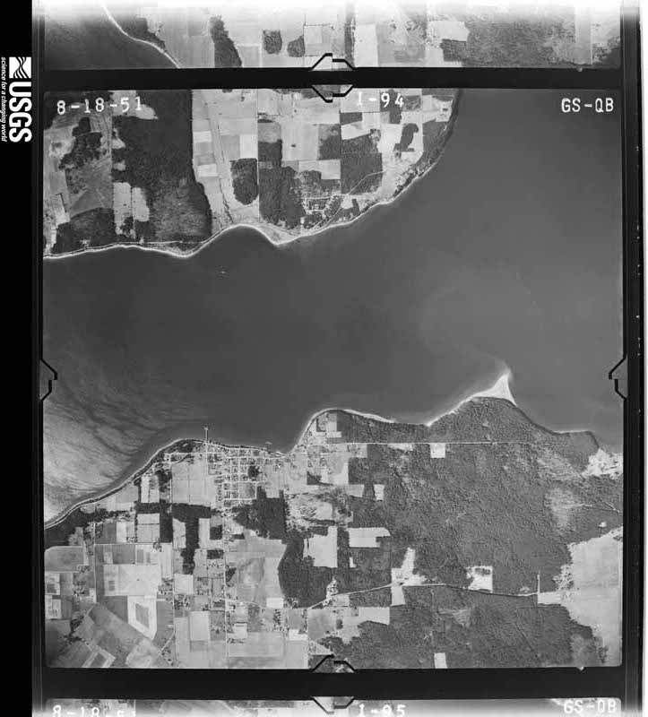 1951-08-18 US Geological Survey aerial photo of Long Point and Coupeville
