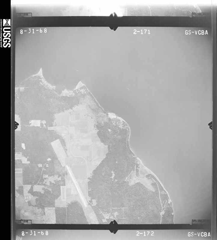 1968-08-31 US Geological Survey aerial photo of Long Point and eastern unincorporated Coupeville