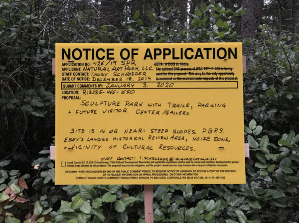 2019-12-18 Public Notice of Application sign