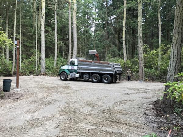 Price Sculpture Forest subgrade for asphalt parking lot