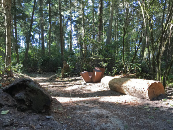 Jan Hoy 4-Up at Price Sculpture Forest sculpture park Coupeville Whidbey Island