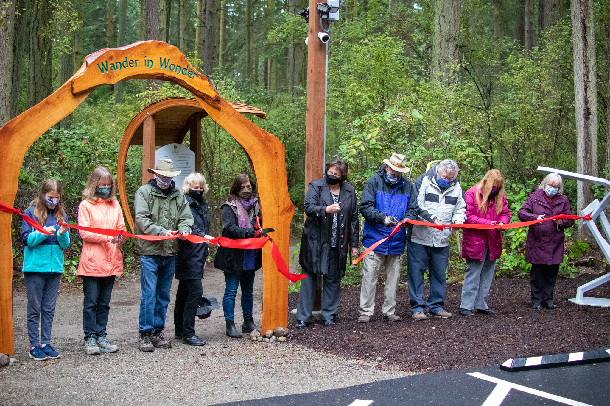 Price Sculpture Forest ribbon cutting ceremony