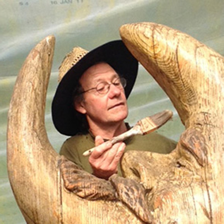 Pat McVay with Price Sculpture Forest