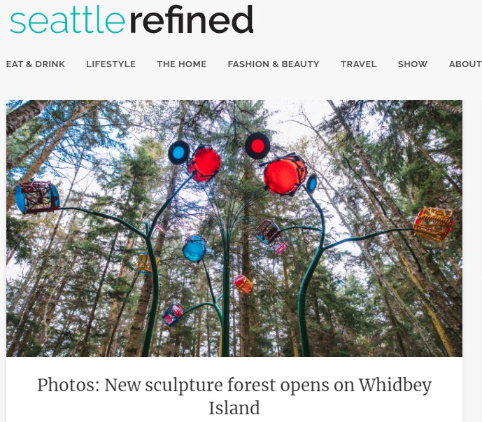 Seattle Refined home page feature of photos of Price Sculpture Forest