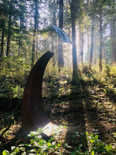 Viet Ly photo of Bill Wentworth Cosmic Sail at Price Sculpture Forest park garden