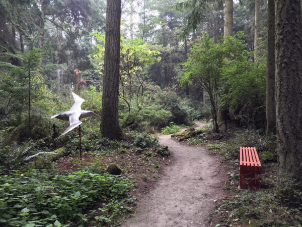 Greg Neal Gliding Albatross at Price Sculpture Forest sculpture park Coupeville Whidbey Island
