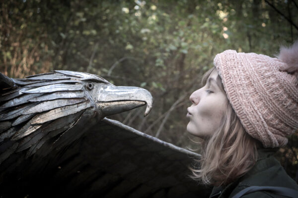 Riley Schrank with Soaring Eagle by Greg Neal - by Cayleen Valentino of Oak Harbor