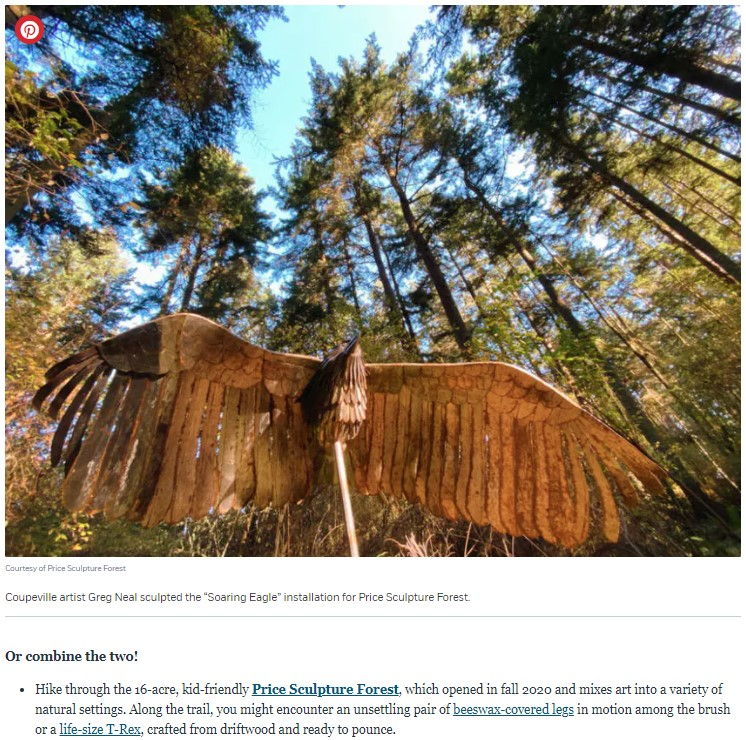 2020-12-18 Afar article A Ferry Ride Away a World Apart A Weekend Retreat to Whidbey Island about Price Sculpture Forest
