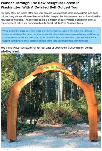 Only In Your State Washington Wander Through The New Sculpture Forest In Washington With A Detailed Self-Guided Tour article intro