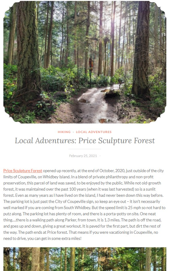 Trail Cooking Local Adventures Price Sculpture Forest article