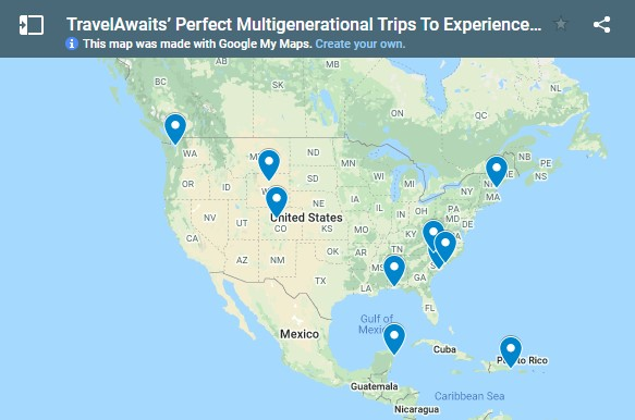 TravelAwaits 10 Perfect Multigenerational Trips To Experience This Summer article map including Price Sculpture Forest