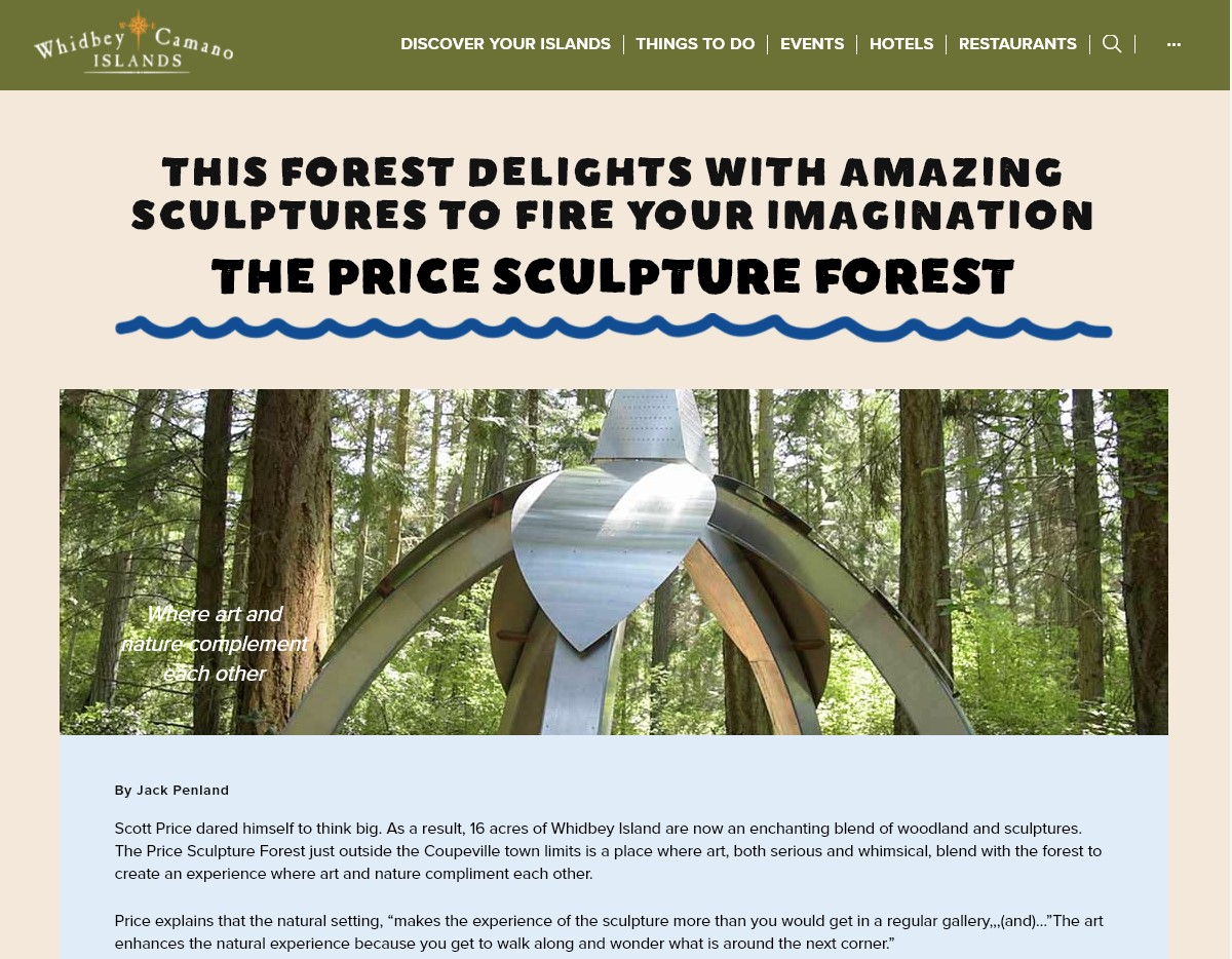 Whidbey Camano Tourism article and video This Forest Delights With Amazing Sculptures to Fire Your Imagination about Price Sculpture Forest