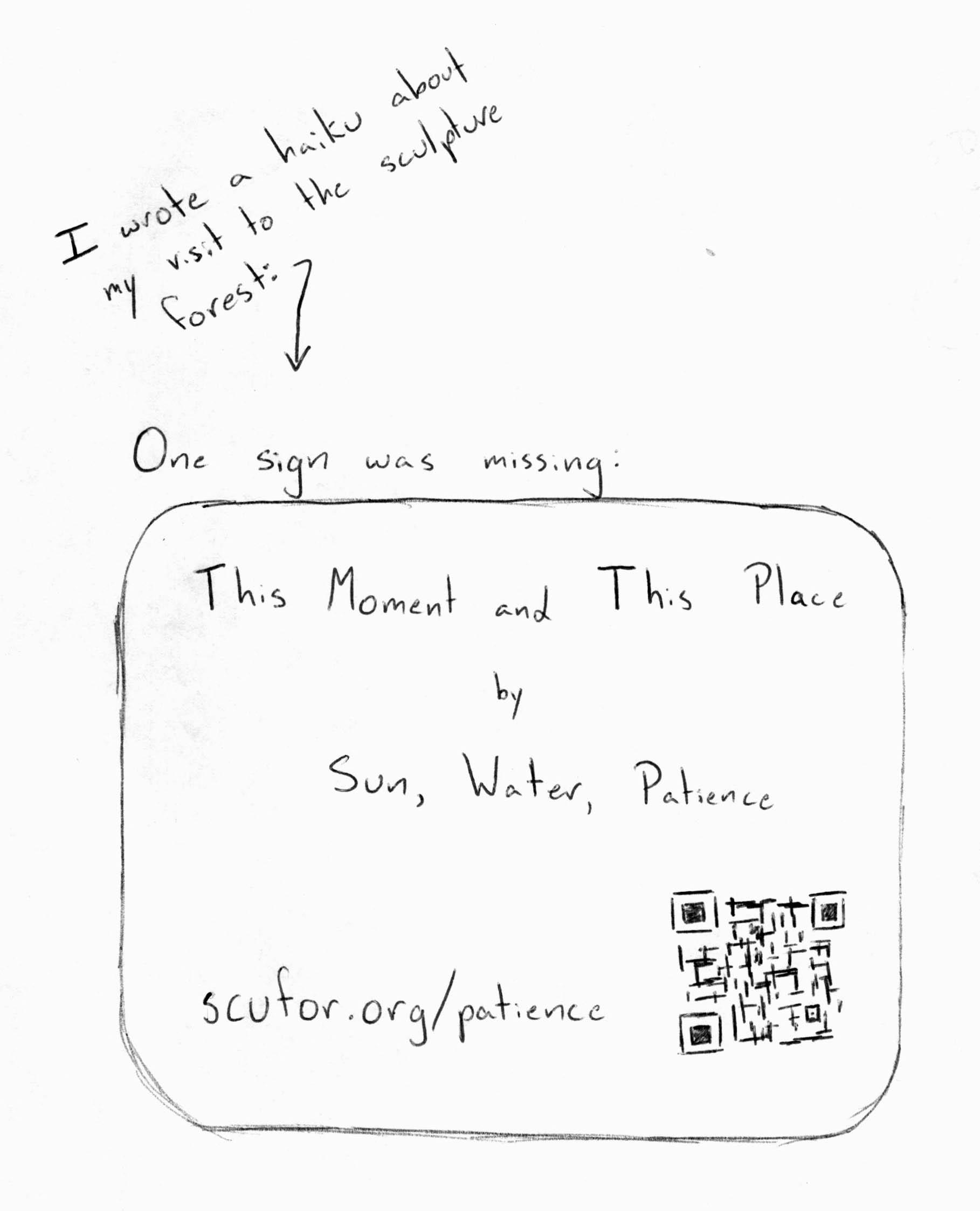 Missing sign haiku